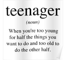 Teenager Definition Poster