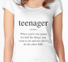 Teenager Definition Women's Fitted Scoop T-Shirt