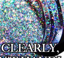 A Glitter Mess Sticker