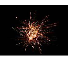 Neon Fireworks Photographic Print