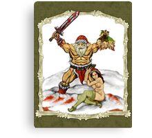 Santa Warlord V2 Canvas Print