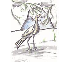 Watercolor Crane Photographic Print