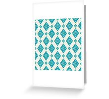 Blue Diamonds Pattern Greeting Card