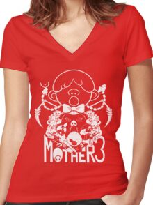 Mother 3 Porky army  Women's Fitted V-Neck T-Shirt