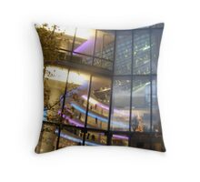 City window christmas scene Throw Pillow