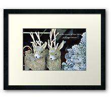Reindeer games! Framed Print