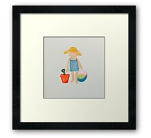 Toddies Summer Beach Holiday Baby Girl Toddler Framed Print