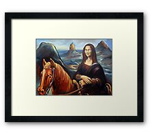 Mona in the Mountains, (glasshouse mountains) Framed Print