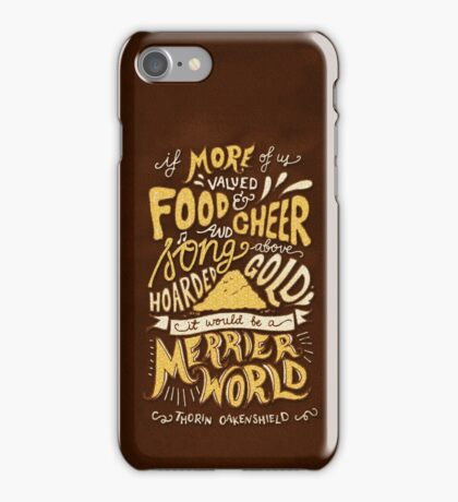 Food Cheer and Song iPhone Case/Skin