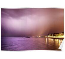 Storm from Glenelg Jetty Poster