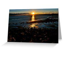 Rocky shoreline Greeting Card