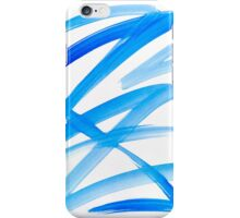 Blue Zig Zag Abstract Painting iPhone Case/Skin