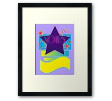 NOTEBOOKS-Notes: 80s Retro Gradient Stars Framed Print