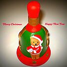 """Santa's Bell - ringing out """"Happy Holiday Greetings to all"""" by EdsMum"""