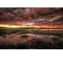 Big Red Sunset Photographic Print