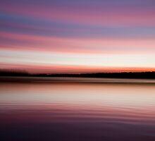 Sunrise, Thompson Lake, Oxford, Maine, USA by Pam McLure