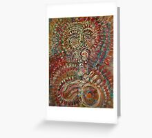 Aztec Horn Greeting Card