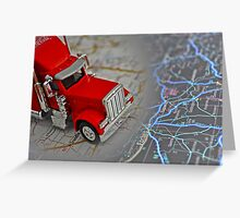 Driving Into The Night! Greeting Card