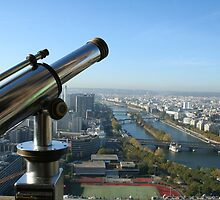 Telescope over the Seine by DaniSpinks