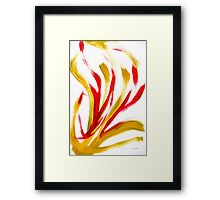 Flame Abstract Painting Framed Print