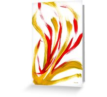 Flame Abstract Painting Greeting Card