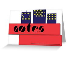 NOTEBOOKS-Notes Skyline Greeting Card