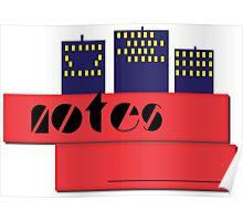 NOTEBOOKS-Notes Skyline Poster