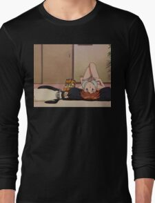 Neon Genesis Evangelion - Asuka and Pen Pen - 2015 1080p Blu-Ray Cleaned Upscales Long Sleeve T-Shirt
