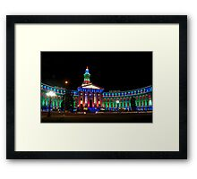 Denver's Courthouse lit up for the holidays Framed Print