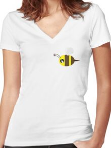 tiny bee Women's Fitted V-Neck T-Shirt