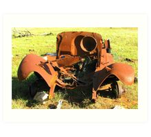 The rusty old truck Art Print