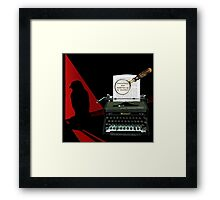 Dashiell Hammett Knows Whodunit! Framed Print
