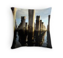 Afternoon Wharf Throw Pillow