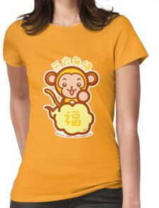 Lucky Monkey Womens Fitted T-Shirt