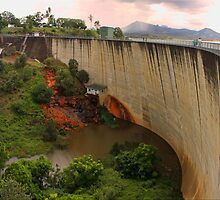 Moogerah Dam Spilling by Kym Howard