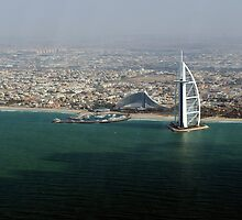 Jumeirah beach and the Burj Al Arab by Mark Prior