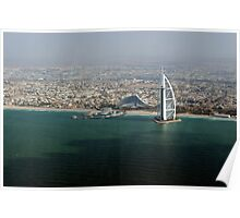 Jumeirah beach and the Burj Al Arab Poster