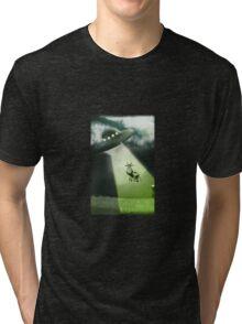Comical Cow Abduction Tri-blend T-Shirt
