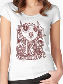 Cthulhu -Corporate Madness- cat version Women's Fitted Scoop T-Shirt