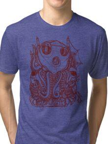 Cthulhu -Corporate Madness- cat version Tri-blend T-Shirt