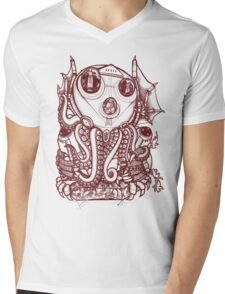 Cthulhu -Corporate Madness- cat version Mens V-Neck T-Shirt