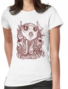 Cthulhu -Corporate Madness- cat version Womens Fitted T-Shirt