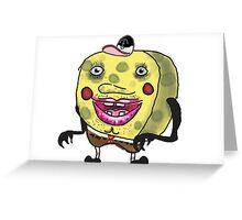 Spungebahb Greeting Card