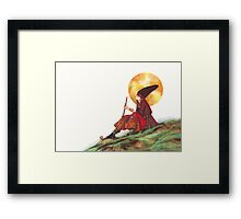 Hills have grass for the smokin' Framed Print