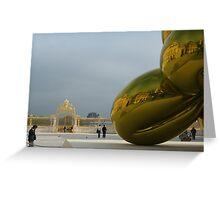 Jeff Koons at Chateau de Versailles Greeting Card