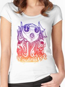 Cthulhu -Corporate Madness- cat version 2 Women's Fitted Scoop T-Shirt