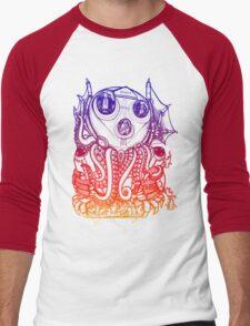 Cthulhu -Corporate Madness- cat version 2 Men's Baseball ¾ T-Shirt