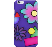 RETRO-Vibrant 80s Abstract Shapes & Flowers iPhone Case/Skin