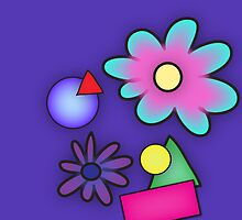 RETRO-Vibrant 80s Abstract Shapes & Flowers by NeonOf1986