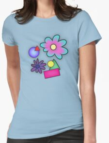 RETRO-Vibrant 80s Abstract Shapes & Flowers T-Shirt